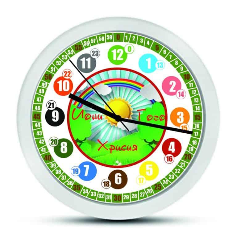 Дизаинерски детски стенен часовник