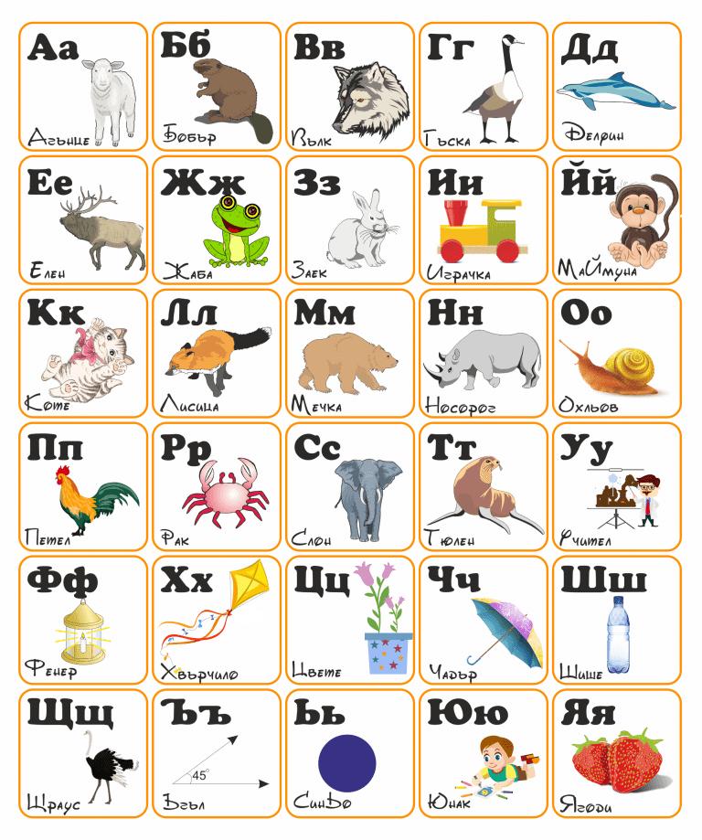 Българска азбука за изучаване