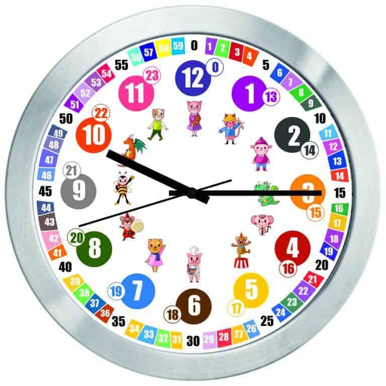 Стенен детски часовник