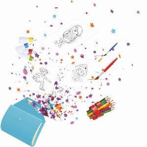 Комплект за рисуване и оцветяване на картинки