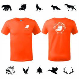Бг лов тениска за ловец оранжава