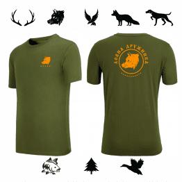 Бг лов индивидуална тениска за ловджия масллено зелена