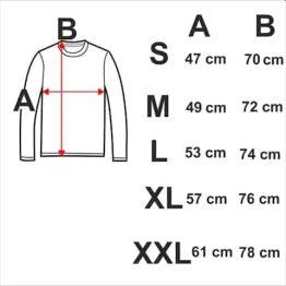 таблица тениски с дълъг ръкав